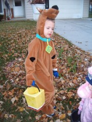 Colby as Scooby Doo