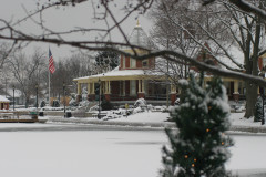 Mineral Springs Pavillion at Christmas