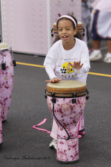 Girl plays Drums _ Race for the Cure