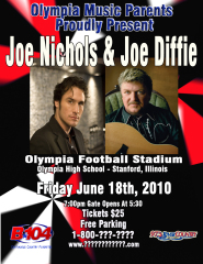 Joe Nichols/Joe diffie to play concert
