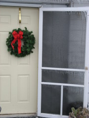 Icy Christmas Doors