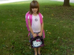 Cassie's First Day of School