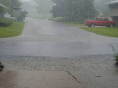 Heavy rain in Pekin