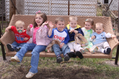 6 Grandkids at Easter