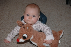 Getting to know Rudolph - First Christmas