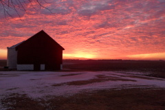 a beautiful winter sunrise in Manito, Il