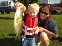 three year old lands a whopper!!!