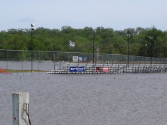 Flood at Peoria Speedway.