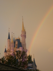 Disney Castle Rainbow