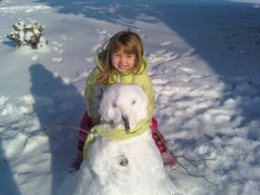 Jaci Oest with her masterpiece, Frosty!!