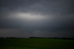 Tornado shrouded in rain near Topeka IL.