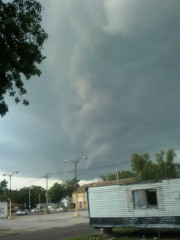 storm clouds on the edge of Pekin