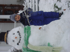 Snowman and Boy become friends