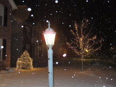 SNowy night in Peoria