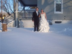 Snow Day--Wedding Photo 2-2-11