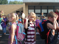 Lilys first day of Kindergarten!