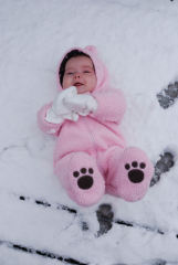Cute Little Snow Bunny