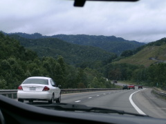 Driving through the Appalachians