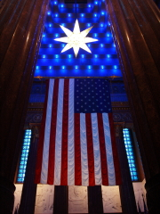 U.S. Flag on Display in War Memorial