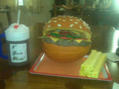 2nd Grade Class Cheeseburger Pumpkin
