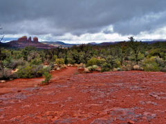 Sedona's Cathedral Rock after a storm