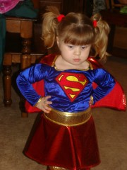 Supergirl Prepares for Trick-or-Treat