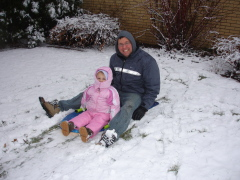 I love sledding with my Daddy!