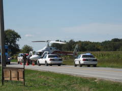 Life flight broken down on route 9