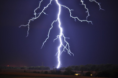 Lightning strike in Peoria on Tuesday
