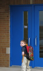 Carson's first day of Kindergarten