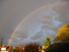 Beautiful rainbow over Lewistown, IL