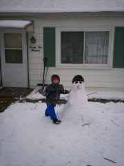 Jacoby and Frosty the Snowman