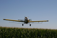 Crop dusting up close!