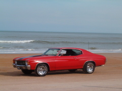 Our 72 Chevelle on Daytona Beach