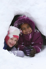 Snow Fort Fun!