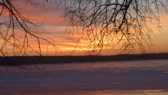 Sunrise on the Illinois River? no Ice!!
