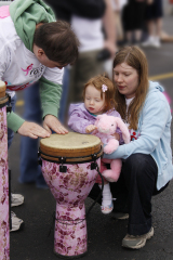 Baby learns to Play drums_Race for Cure