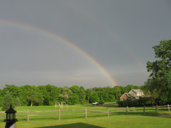Storm Over Morton with Rainbows