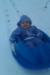 Addison's 1st Sled Ride