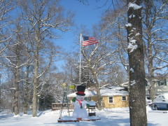 I LOVE WINTER, AMERICAN FLAGS & SNOWMEN!