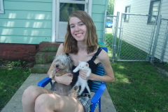 Crystal Northrup enjoys dogs and cats