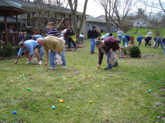 Great weather to hunt eggs at Hopewell!