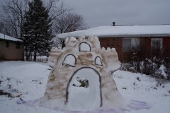 Our snow castle