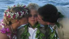 Hawaiian Sand Ceremony Kiss
