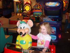 my neice and chuckie cheese